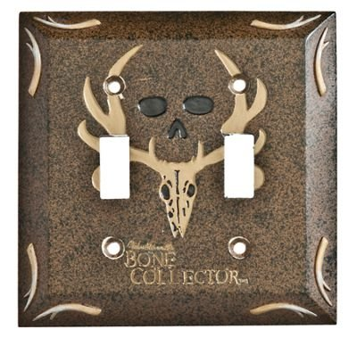 Bone Collector Bath Switchplate Double