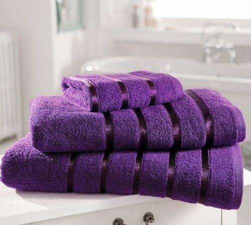 Algodón egipcio 600gsm tiernita Kensington satinada toalla de mano ...