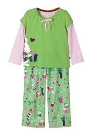 0dad6b24f6 Image Unavailable. Image not available for. Color  Infant Girls Green  Christmas Mouse Pajamas Holiday ...