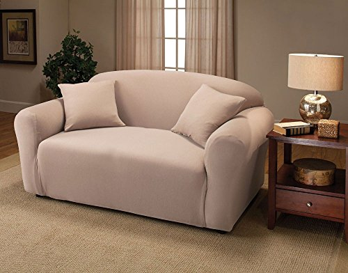 Home Fashion Sofa Love Seat Chair Furniture Protector Cover (Love Seat, Beige)