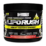 NDS Nutrition LipoRush XTP - Extreme Thermogenic Fat Burning Powder Enchanced with L-Carnitine and Teacrine - Maximum Energy, Sharp Focus, Appetite Control - Strawberry Lemonade - 45 Servings …