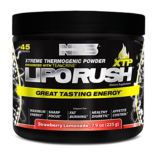 NDS Nutrition LipoRush XTP Extreme Thermogenic Fat-Burning Powder - Strawberry Lemonade / 45 Serving by NDS