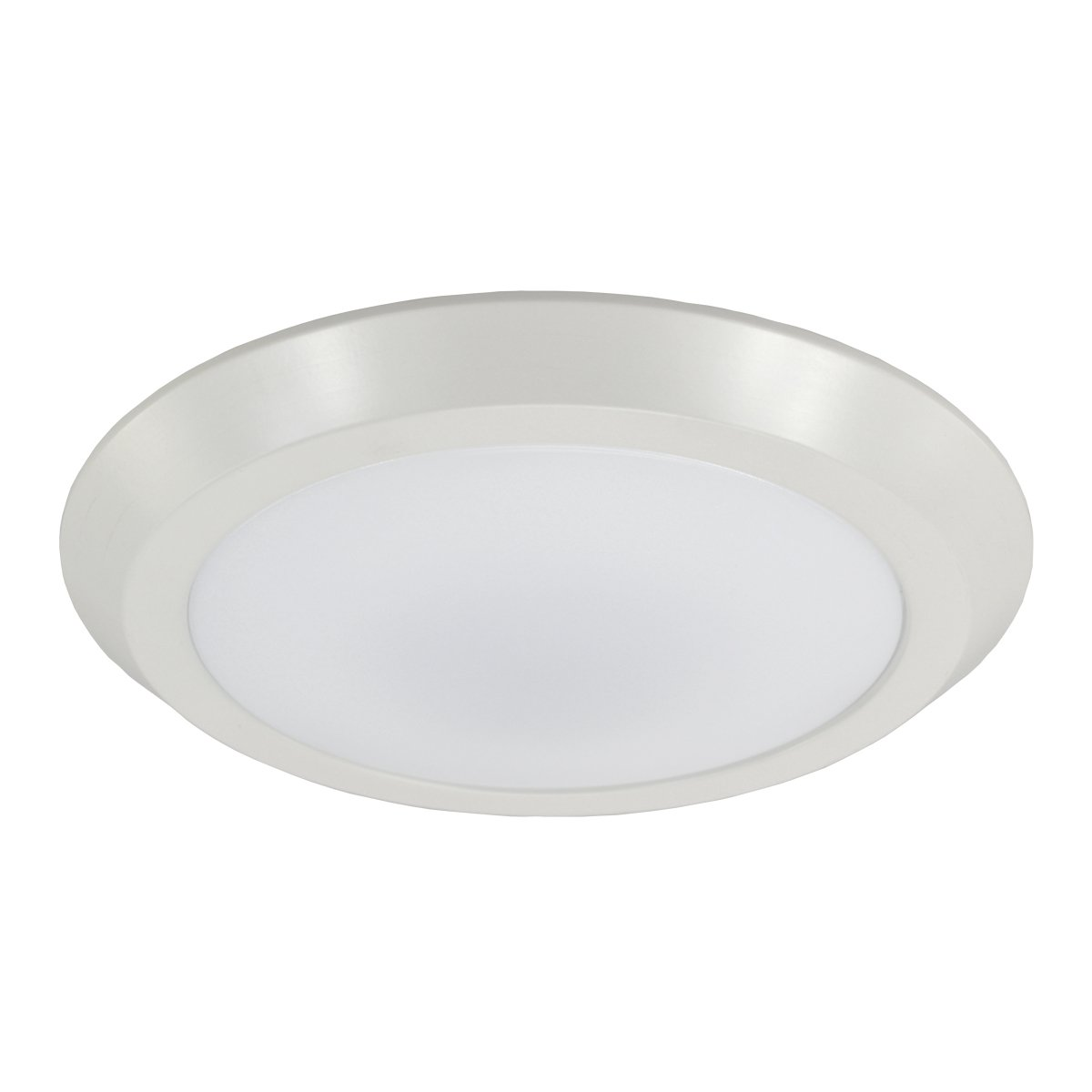 HomeSelects 8112 Essential LED Surface Mount Disk Light, White with Acrylic Shades, 12''L x 12''W x 0.75''H