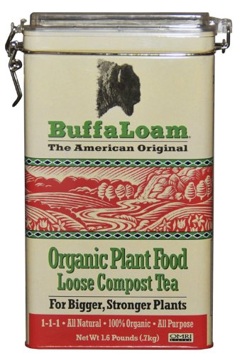 Buffaloam Organic BLPF Plant Food Loose Compost Tea, 1.6-Pound