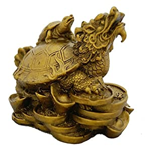 Divya Mantra Dragon Headed Tortoise With Baby Others Yellow