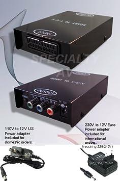 Cable de euroconector RGB adaptador de cable de TV AV con clavija C para sistema maestro Mega Drive 1 Sega G/énesis 1