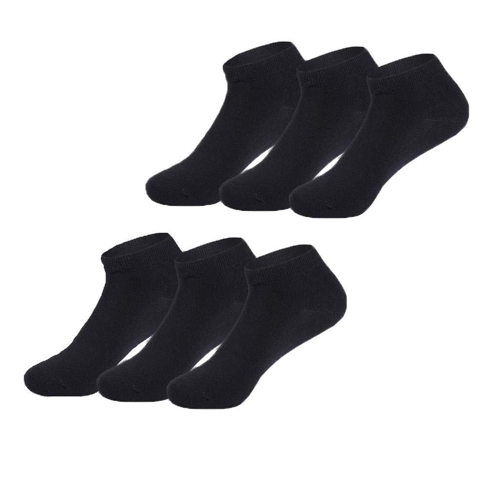 Falechay Zapatillas Calcetines Hombres Mujeres 6 Pares Cortos Medio Calcetines Patucos Algod/ón Unisex