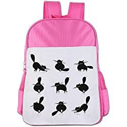 XianNonG The Morphology Of The Cat Boys And Girls Large Capacity School Bags Pink