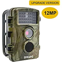 Trail Game-Hunting & Security Surveillance Digital Scouting Camera With 12MP 720P-0.6S Trigger Speed-65ft Night Vision-34pcs 850NM Low Glow Infrared LEDs-IP56 Waterproof H301