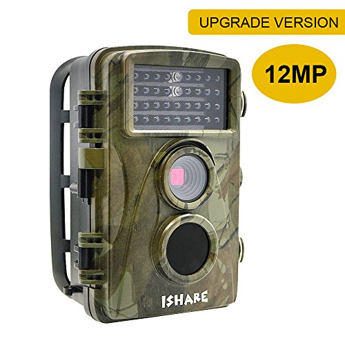 Trail Camera, Game Hunting & Security Surveillance Digital Scouting Camera With 12MP 720P-0.6S Trigger Speed-65ft Night Vision-34pcs 850NM Low Glow Infrared LEDs-IP56 Waterproof (H301) (Scouting Digital Camera)