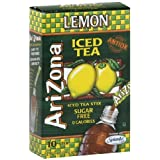 Arizona Lemon Iced Tea Stix Sugar Free, 10 Count Per Box (Pack of 12), Low Calorie Single Serving Drink Powder Packets, Just Add Water for a Deliciously Refreshing Iced Tea Beverage