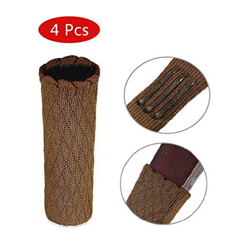 Artwell Chair Leg Socks, Chair Leg Floor Protectors with Non Slip Strips Elastic Chair Furniture Socks Sets Floor Protector Fit Square & Round Furniture Feet Girth from 2.7'' to 7'', 4 Pcs ()