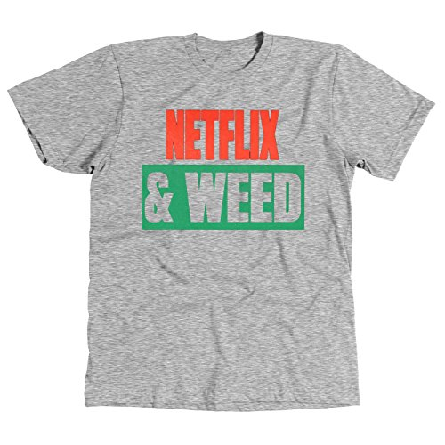 brklyn-kings-netflix-weed-netflix-chill-mens-t-shirt-gray-small
