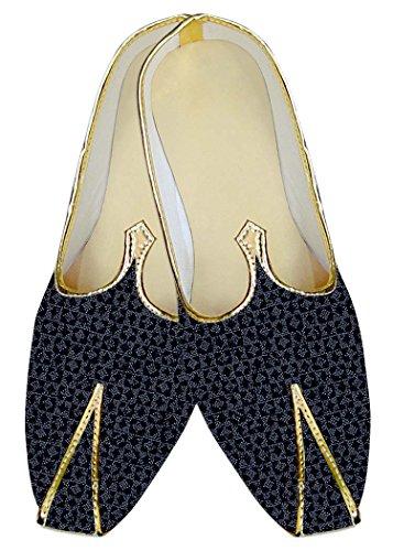 INMONARCH Zapatos y Azul de Fiesta Boda Hombres Negro Ropa MJ14094 grqOg