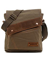 Messenger Bag, Vintage Small Canvas Shoulder Crossbody Purse