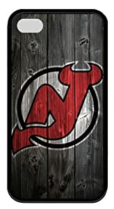New Jersey Devils Wood Iphone4/4S Black Sides Rubber Shell TPU Case by eeMuse
