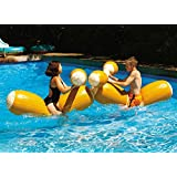 Swimline Log Flume Joust Set Action Inflatable for Swimming Pools (2 Set)