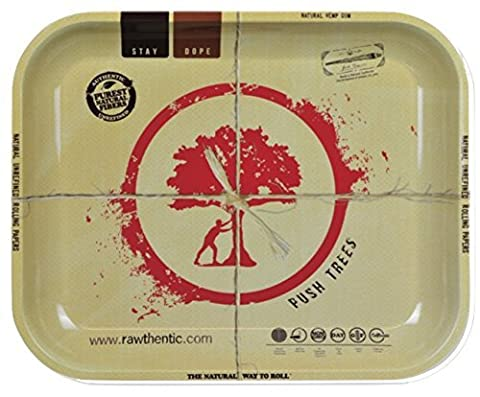 RAW Push Trees Large Rolling Tray 12 x 14 in (1 Tray)