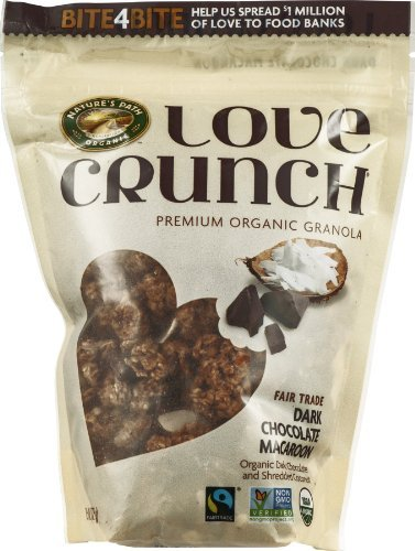Love Crunch Organic Dark Chocolate Macaroon Granola, 11.5 Ounce -- 6 per case.
