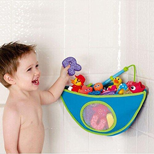 Demiawaking Organizzatore di Giocattoli da Bagno Sacchetto Triangolo Impermeabile di Giocattoli con Ventosa Portaoggetti per Bambini Rosa