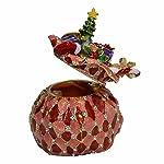 Minihouse Jewelled Enameled Trinket Box Tabletop Ornament (Gift Bag)
