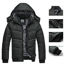 Imixshopcs Fashion Men Warm Hoodie Coat Parka Winter Coat Outwear Down Jack