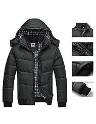 Imixshopcs Fashion Men Warm Hoodie Coat Parka Winter Coat Outwear Down Jacket