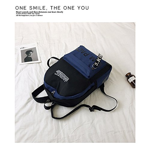 Week and Students Prime Male Capacity Big Day Backpack Father's Female Deals Oxford Day Travel Shcoolbag Blue Backpack TqvIqU7