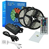 led lights changing color strip - RC 32.8ft 10M Color Changing RGB LED Light Strip,Waterproof Flexible SMD5050 300LEDs with 44Key IR Remote Control and 12V 5A Power Adapter for Party,Holiday,Home and Outdoor