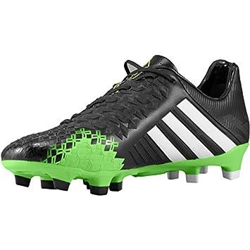 adidas Predator LZ TRX FG Botas de fútbol MiCoach Compatible Q21664 RRP £200, Negro/Verde, 6,5: Amazon.es: Deportes y aire libre