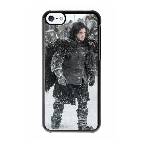 Coque,Coque iphone 5C Case Coque, Game Of Thrones Jon Snow Cover For Coque iphone 5C Cell Phone Case Cover Noir