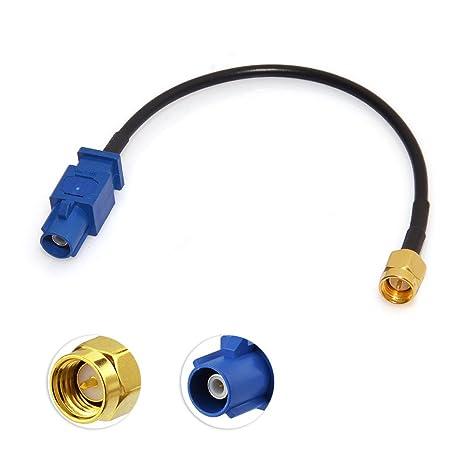 Eightwood Adaptador de Antena GPS Fakra C a Conector SMA Piggear Cable RG174 15 cm 6 Pulgadas para el automóvil Módulo GPS Antena de rastreo Sistema de ...