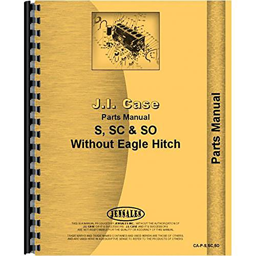 New Case SC Tractor Parts Manual
