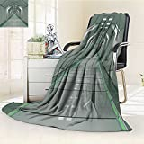 AmaPark Digital Printing Blanket SciFi Corridor Inside Station Ship Laboratory Technology Fiction Grey Summer Quilt Comforter