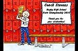 Personalized Friendly Folks Cartoon Side Slide Frame Gift: Coach - Male Great for school, professional sports league, weekend coach