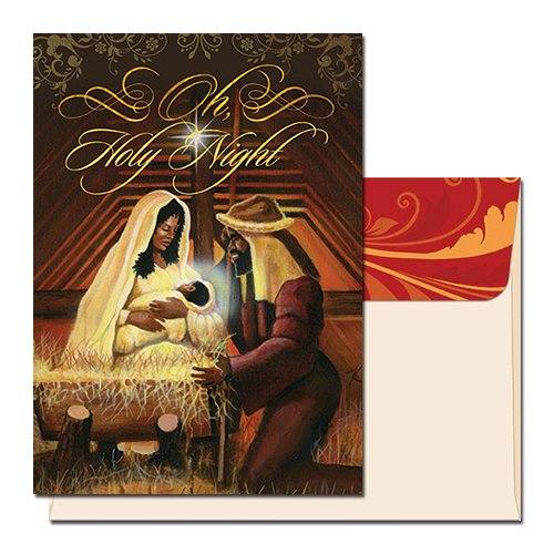 [Holy Night: African American Christmas Card (Box Set of 15)] (African American Stationery)
