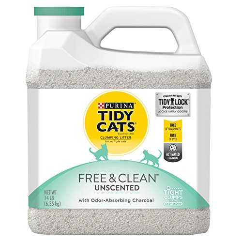 Purina Tidy Cats Free & Clean with TidyLock Protection Unscented Clumping Cat Litter - (3) 14 lb. (Three Jug)