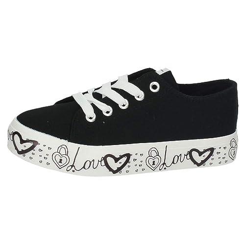 CONGUITOS JV559559 Lonas Plataforma NIÑA Zapatillas Negro 34: Amazon.es: Zapatos y complementos