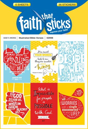 Illustrated Bible Verses (Faith That Sticks Stickers)