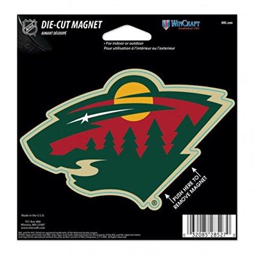 Nhl Hockey Car - NHL Minnesota Wild Color 4.5 x 6 Die Cut Magnet