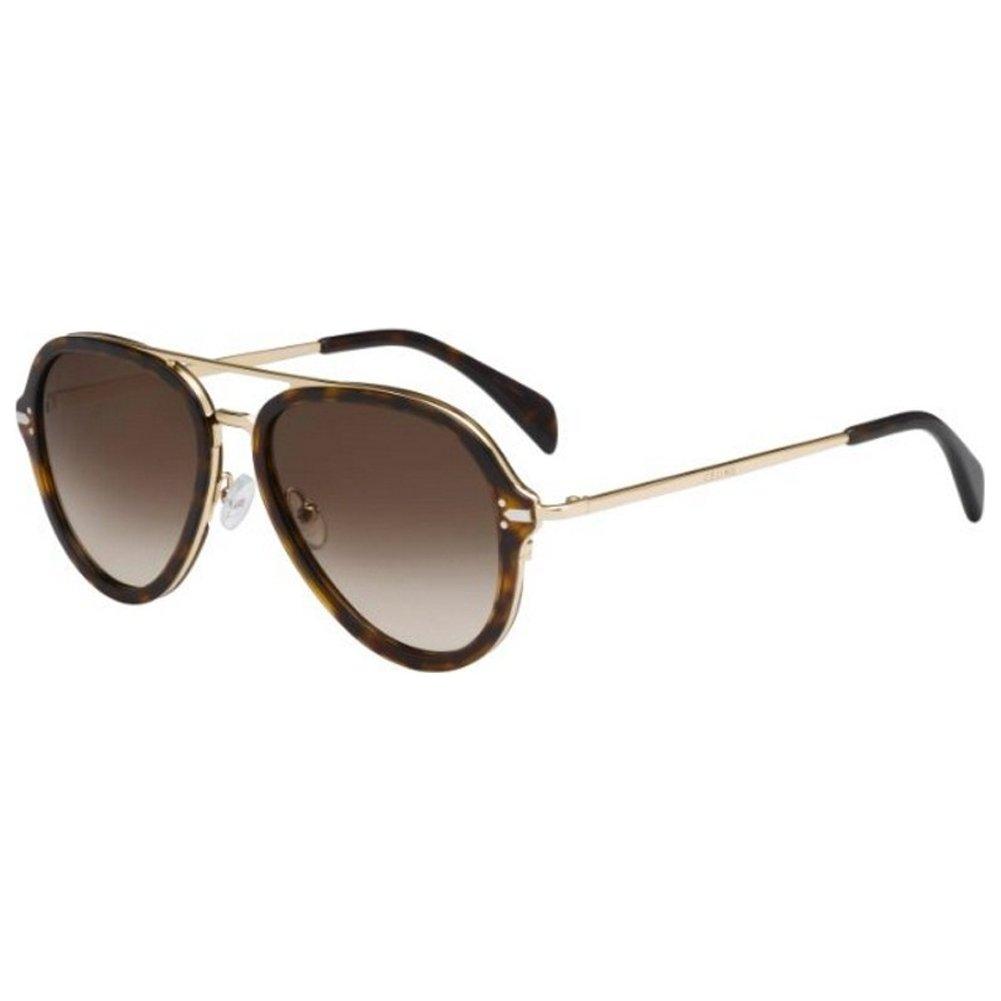 bcc9e6f5cf066 Sunglasses Celine 41374 S 0ANT Dark Havana Gold   9J gray polarized lens   Amazon.ca  Clothing   Accessories