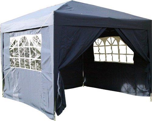 ESC Ltd 3x3mtr Pop Up Waterproof Gazebo in in Blue with 2 WindBars and 4 Leg Weight Bags
