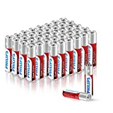 Philips AAA Batteries, 40-Pack 1.5V AAA Alkaline Battery 1100mAh, High Performance, Non-Rechargeable