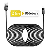 Opluz 26FT/8M Phone Charger, Fast Charging Cable Extra Spuer Long Nylon Braided Cord USB Charger& Syncing Cable Compatible with Phone Xs Max/XR/XS/X/8/8 Plus/7/7 Plus/6s/6s Plus/6/6 Plus