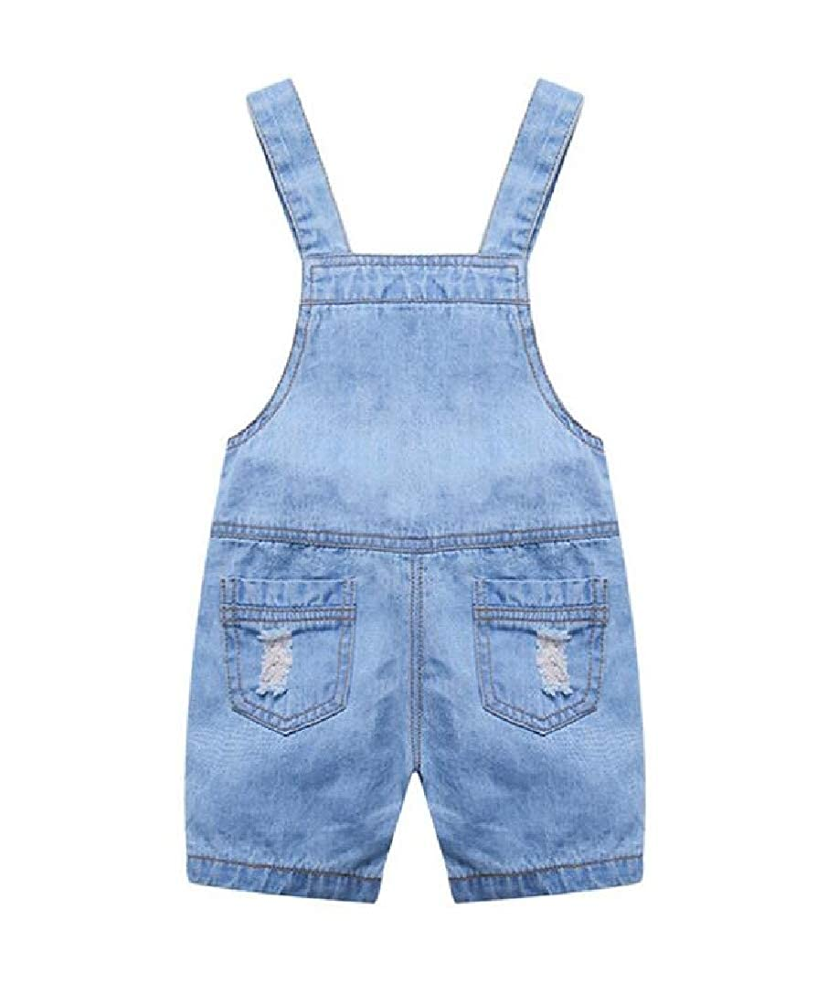 Lutratocro Boys Outdoor Ripped Denim Overalls Jean Cute Shorts