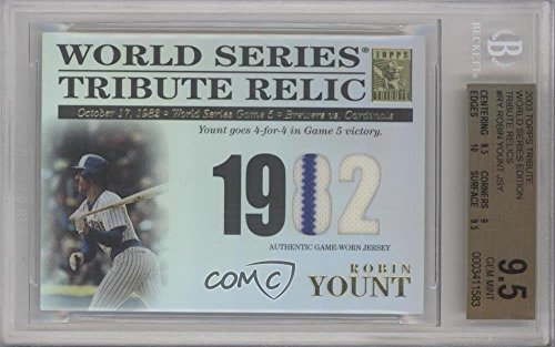 Robin Yount Graded BGS 9.5 GEM MINT #319/425 (Baseball Card) 2003 Topps Tribute World Series - Tribute Relics #TR-RY ()