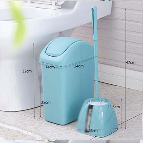 OOFYHOME Shaking trash cans, creative toilet trash cans toilet brush set, covered trash cans , C by OOFYHOME (Image #2)