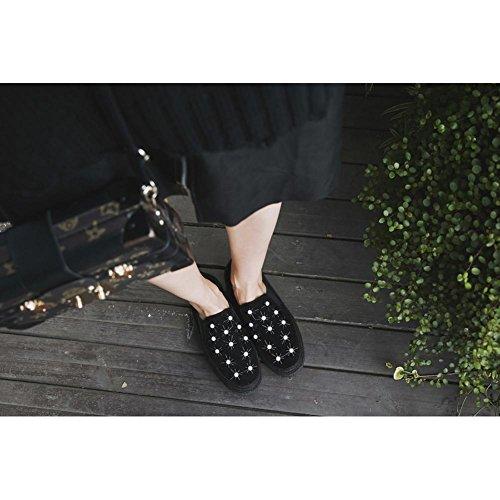 Zapatos Perlas Accesorios Mujer Zapatillas Black A3219 KJJDE Deporte con de de Plataforma Mujeres WSXY UdKRgwq