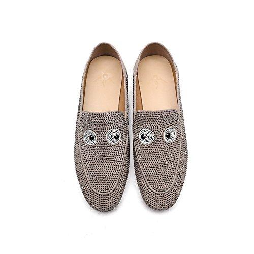 Profundas Respirables Verano Ligeros Mocasines Poco Vestido Zapatos de Casuales Fiesta de Las Bombas Gris Señoras XpqxSZwSI