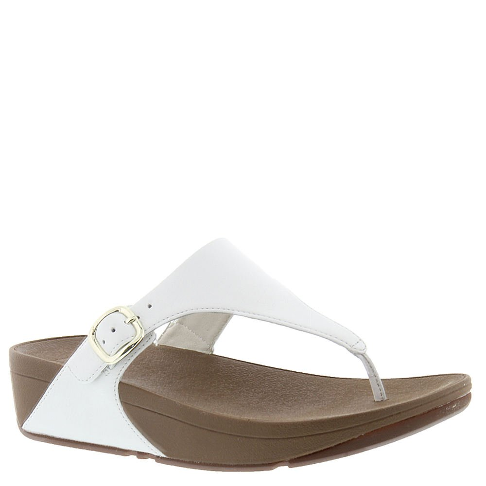 FitFlop Women's The Skinny Thong Sandal,Urban White Matte Leather,US 7 M